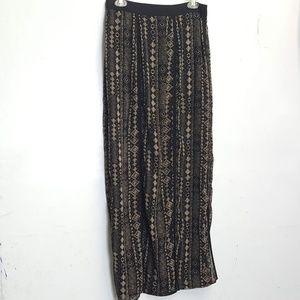 Sans Souci tribal print panel maxi Skirt